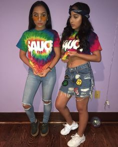 Top 15 Siangie Twins Outfits for You And Your Twin Swag Outfits For Girls, Lit Outfits, Jordan Outfits, Fashion Outfits, Siangie Twins, Best Friend Outfits, Tie Dye, Matching Outfits, Ladies Dress Design