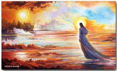 FAITH - A spiritual painting by Rassouli