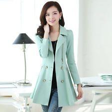 New Korean Women long slim windbreaker fashion ladies Windbreaker Jacket Coat
