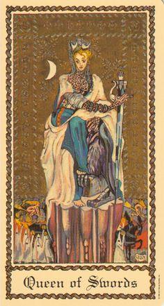 Queen of Swords - Medieval Scapini Tarot