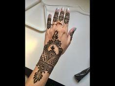 Simple khaleeji/bridal henna - YouTube