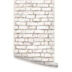 White Brick Self Adhesive Fabric Wallpaper by AccentuWall on Etsy, $35.00 - Kind of fun & funky for an accent wall