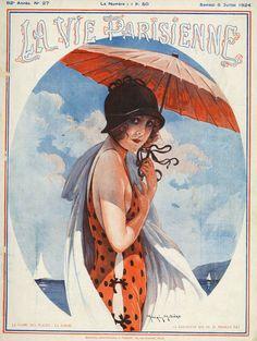 La Vie Parisienne, 1924, Art by Maurice Milliere,