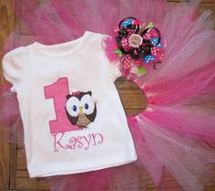 Owl birthday girl shirt