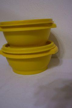 sunshine yellow tupperware