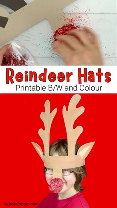 PRINTABLE REINDEER ANTLERS HAT - A fun Christmas craft for kids. Easy to make with the printable reindeer antler template which comes in B/W and 2 mix and match coloured versions. These reindeer antler headbands are a great reindeer craft for Christmas parties. Have fun making your reindeer Christmas headband today! #kidscraftroom #christmascrafts #kidscrafts #reindeercrafts #reindeer #antlers Childrens Christmas Crafts, Holiday Crafts For Kids, Reindeer Christmas, Christmas Parties, Christmas Crafts For Kids, Diy Crafts For Kids, Christmas Fun, Christmas Projects, Xmas