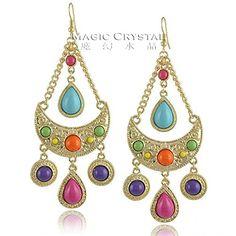 Slyq Jewelry 18K Rose Gold Plated Austrian Crystal Earring Jewelry long Bohemian style Gift Slyq Jewelry http://www.amazon.com/dp/B00SJFF4X6/ref=cm_sw_r_pi_dp_HGF9ub0ERKT9X