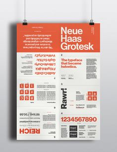 Neue Haas Grotesk - Type Specimen Poster by Chica Yoshida, via Behance