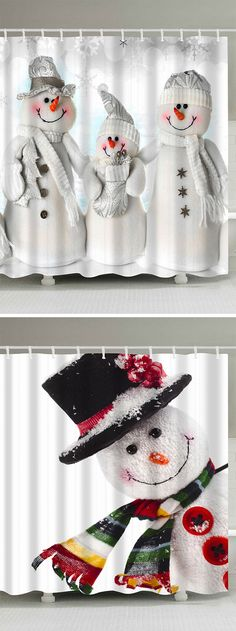 50% Christmas Shower Curtains,Free Shipping Worldwide Christmas 2017, Christmas Snowman, Christmas Projects, All Things Christmas, Holiday Crafts, Christmas Stockings, Christmas Holidays, Holiday Decor, Christmas Ideas