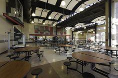 Cave Springs High School  Roanoke, Virgina  Featuring #Fritztile  #school #Flooring #floor #cafeteria