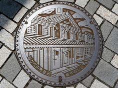 Yanai yamaguchi, manhole cover 2 (山口県柳井市のマンホール2) | Flickr - Photo Sharing!