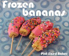 Pint Sized Baker: Frozen Bananas