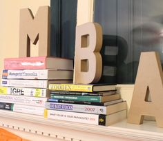 get it together: one smart cookie, graduation party, MBA,  mantle decor