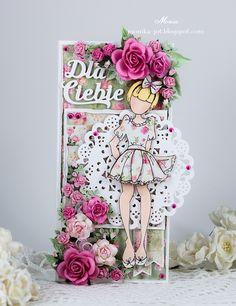 Birthday card with Prima Doll - Scrapbook.com