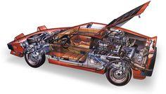 Lotus Turbo Esprit Cutaway