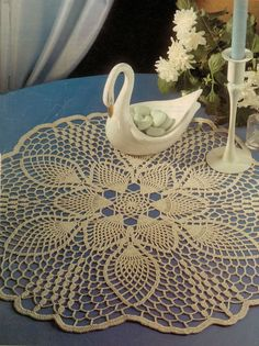 Perfect Pinwheels crochet pattern leaflet Evening Star Doily
