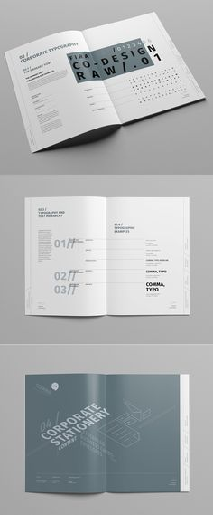 Brand Manual and Identity Template – Corporate Design Brochure – with 48 Pages…
