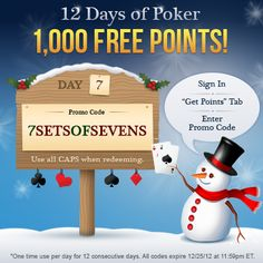 The 12 Days of Poker! Sign In & Redeem www.NLOP.com