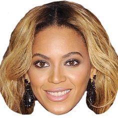 Card Face and Fancy Dress Mask Usher Celebrity Mask
