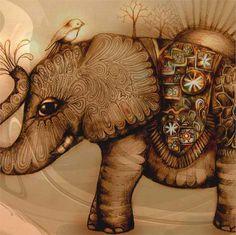 Elephant & Bird...