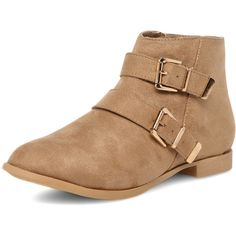 Dorothy Perkins Mink double buckle ankle boots