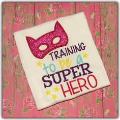 Embroidery design 5x7 Training to be a Super Heroes, BOY embroidery, noisy baby, new baby, silly Boy, hero embroidery, socuteappliques