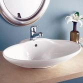Found it at Wayfair - Classically Redefined Oval Ceramic Vessel Sink with Overflow