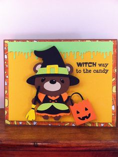 Cricut Halloween card - Teddy Bear Parade