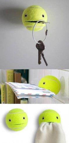 Cute idea with old tennisballs