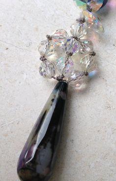 Handmade Purse Charm Crystal Gemstone by GypsiesBitsNBaubles