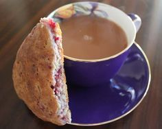 Raspberry and white chocolate scones - give me anything with raspberries!!
