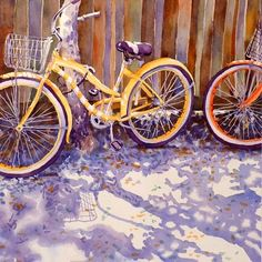 Bicycle Art Print Fine art от WatercolorByMuren на Etsy
