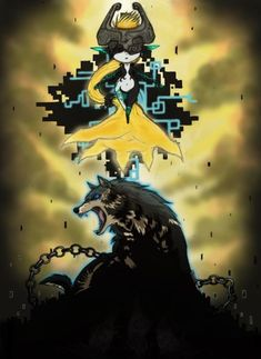 Midna and Wolf Link.