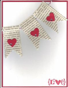 Hearts A Flutter pennants January 2013 by Stampin Wrose - Cards and Paper Crafts at Splitcoaststampers