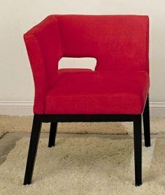 Armen Living LC312CRMFRE - Micro Fiber Corner Chair - Red   Sale Price: $249.30