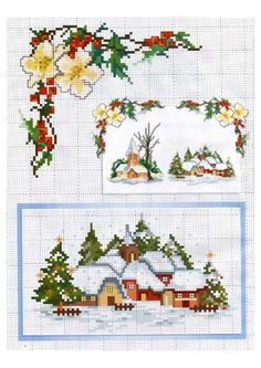 Gallery.ru / Фото #4 - Lena Costura №7 2016 - Chispitas Cross Stitch Christmas Cards, Christmas Charts, Xmas Cross Stitch, Christmas Cross, Counted Cross Stitch Patterns, Cross Stitch Charts, Cross Stitching, Cross Stitch Embroidery, Rico Design