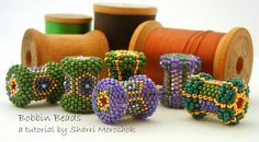 Peyote stitch beaded bead tutorial by Sharri by TheBeadedBead