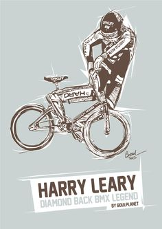 "HARRY LEARY ""BMX LEGEND"" illustration Christophe BOUL www.boulplanet.com"