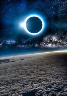 Solar Eclipse from above the clouds! #image
