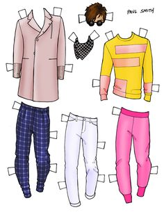 DANIELLE MEDER SS14 Menswear Paper Doll – John Varvatos and PAUL SMITH 3