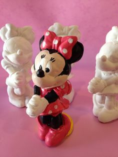 3 DIY Minnie Mouse ceramics by LittleArtistShop on Etsy, $15.00