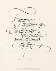 John Stevens Calligraphy Design