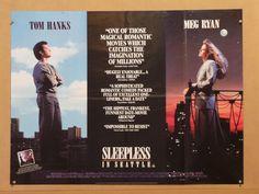 Sleepless In Seattle - Tom Hanks/Meg Ryan - Movie Poster - 11 x 16 Original Movie Posters, Film Posters, Meg Ryan Movies, Quad, Sleepless In Seattle, Romantic Movies, Tom Hanks, Film Music Books, 25 Years Old