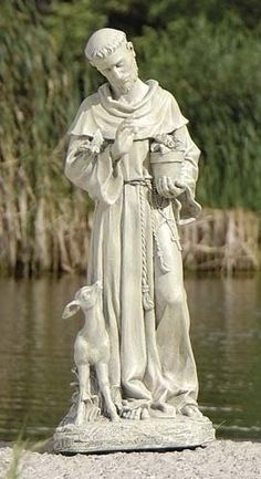 "18"" Joseph's Studio Saint Francis of Assisi Outdoor Garden Statue by Roman. $54.99. From The Joseph's Studio Garden Statuary CollectionItem #46037This piece has been meticulously hand sculpted by highly skilled artisans with fine attention to detail.For indoor/outdoor useDimensions: 18""H x 7.5""W x 4.25""DMaterial(s): resin/stone mix. Save 31% Off!"