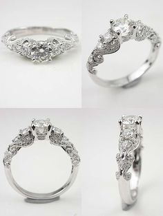 Antique Style Vintage Wedding Engagement Rings