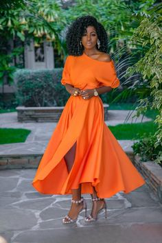 Off Shoulder Top + Belted Midi Skirt (Style Pantry) Classy Dress, Classy Outfits, Chic Outfits, Dress Outfits, Dress Up, Look Fashion, Skirt Fashion, Fashion Dresses, Cheap Fashion