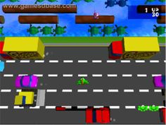 Frogger Game | In game image of Frogger on the Sony Playstation.
