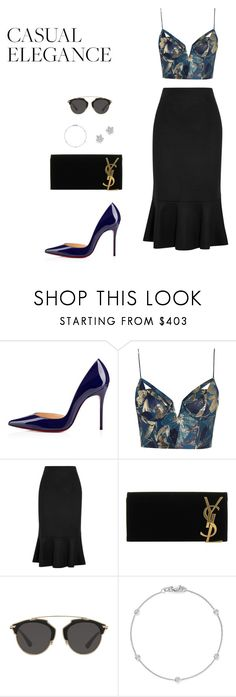 """#LookElegance"" by liajuphoenix on Polyvore featuring moda, Christian Louboutin, Zimmermann, MaxMara, Yves Saint Laurent, Christian Dior e Bloomingdale's"