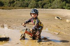 .Get muddy!