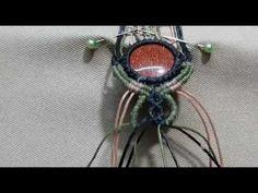 Handmade bracelet with colored stone Macrame